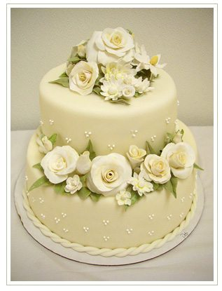 Rose Walk Inspired Wedding Cake Design