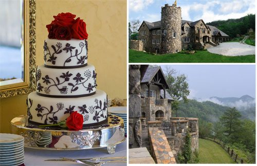 Wedding Cake for Kimberly and Christopher at Castle Ladyhawke in Western North Carolina