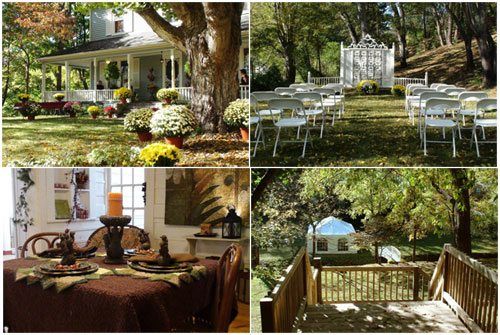 outdoor weddings at twin maples farmhouse stable in waynesville nc