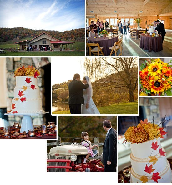Pumpkin Spice Wedding Cake at Claxton Farm