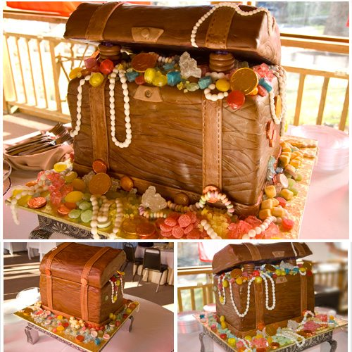Treasure Chest Cake for Folkmoot's Pirates' Ball