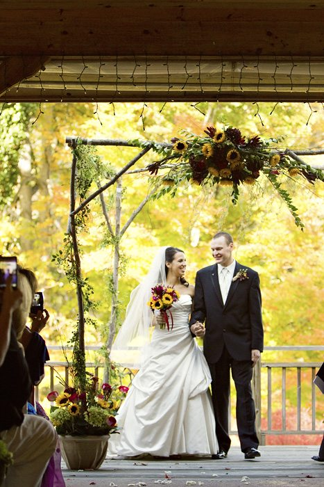 Fall Wedding Waynesville NC