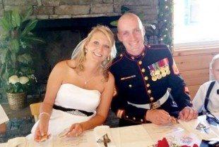 Congratulations Staff Sergeant Ryan and Mrs. Dana Clay