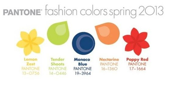 Pantone Fashion Wedding color trends for 2013