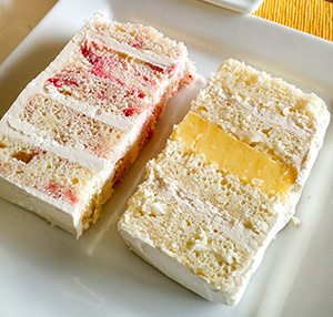 actual slices of wedding cake