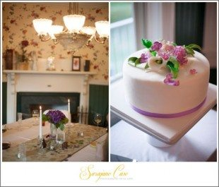 Intimate wedding at Andon Reid Bed and Breakfast in Waynesville, NC