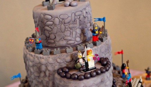 Lego Inspired Wedding Cake for a Medieval Wedding