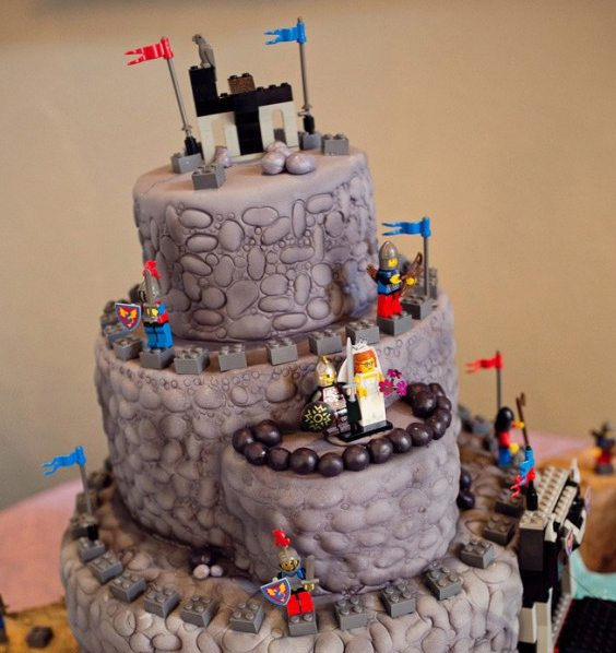 Lego Inspired Wedding Cake For A Meval Just Simply Delicious Cakes Desserts And Confections Serving Waynesville The Asheville Nc Area