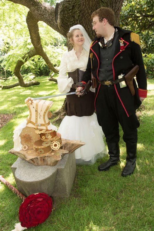 steam-punk-wedding-cake-cutting