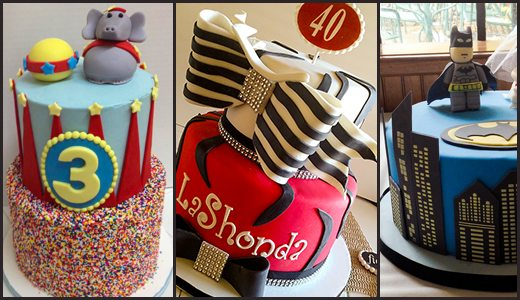 birthday cakes that are tierd, modeled and sculpted in Asheville, Waynesville, NC