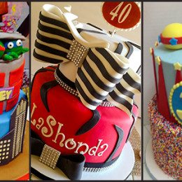 Sculpted, tiered and modeled birthday cakes for your special day!