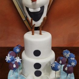 our favorite snowman birthday cake