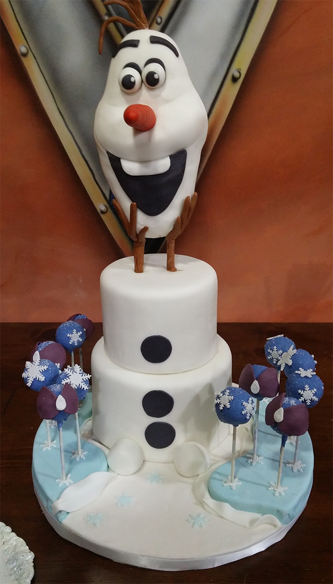 Stupendous Olaf Inspired Cake From Frozen Just Simply Delicious Cakes Personalised Birthday Cards Petedlily Jamesorg
