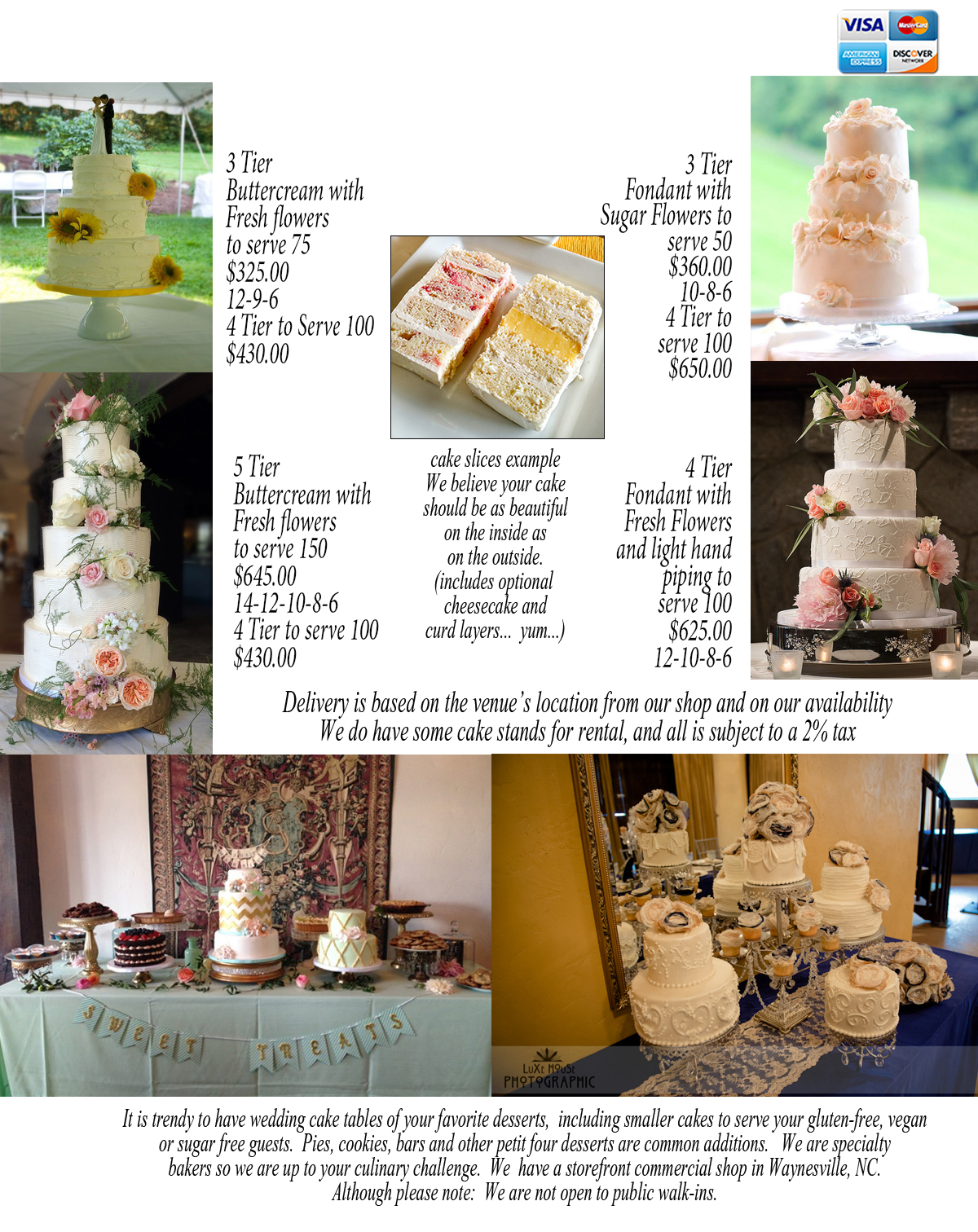 2016 wedding cake pricing ideas! • Just Simply Delicious Cakes ...