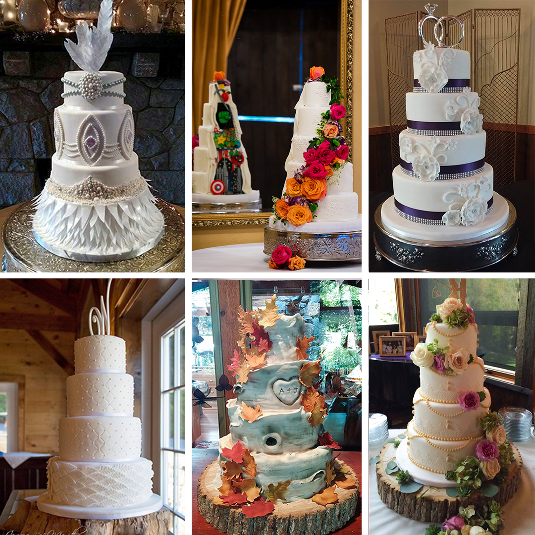 Custom Designed Fondant Wedding Cakes In Asheville, NC