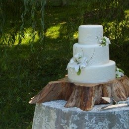 What you should know about your wedding cake if you plan an outdoor wedding in summer heat.