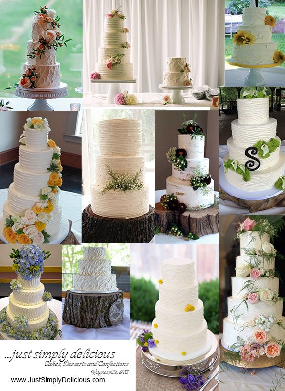 Sculpted Buttercream Budget Wedding Cakes