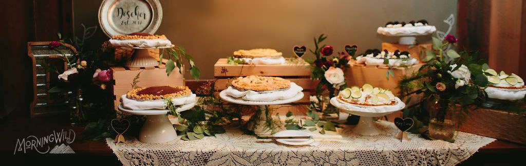 Pies for weddings and holidays at Waynesville NC bakery