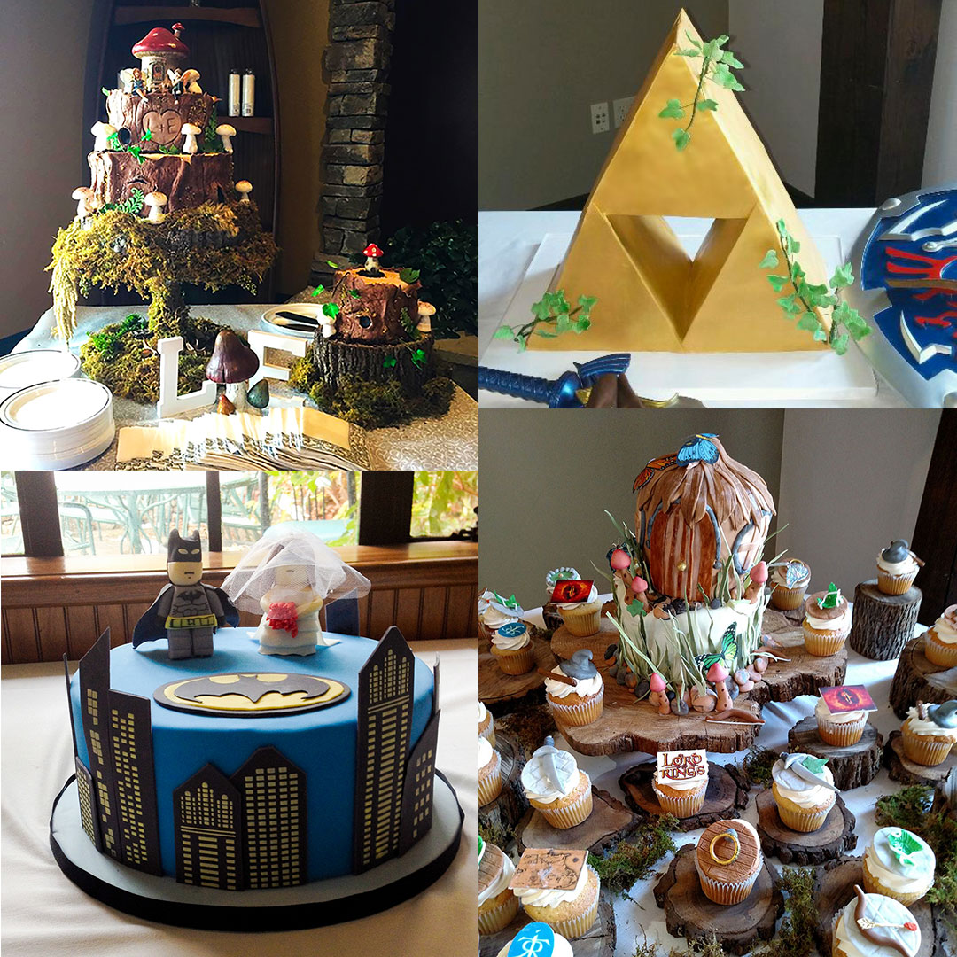 Specialty Cakes for Weddings including the children, incredible theme designs.