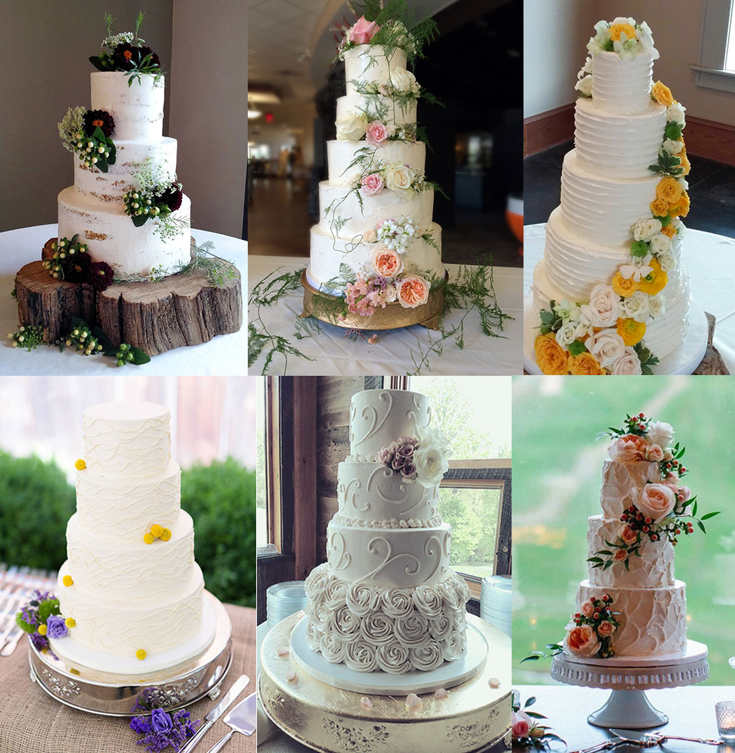 Styled Buttercream Wedding Cakes are always elegant and classy.