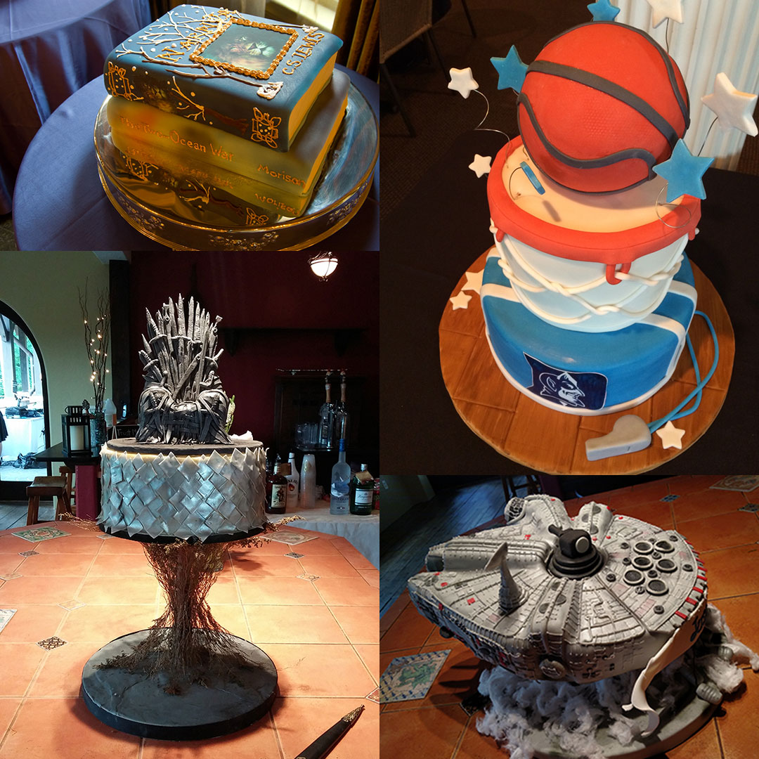 Specialty Sculpted Grooms Cakes for Weddings