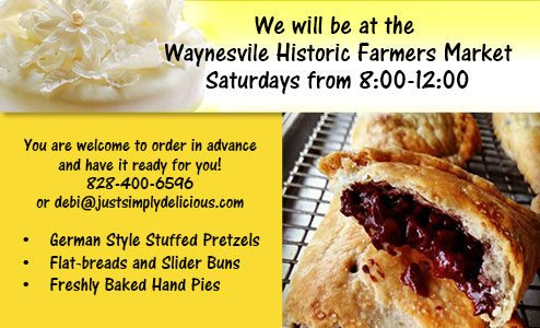 Just Simply Delicious is in the Waynesville Historic Farmers Market