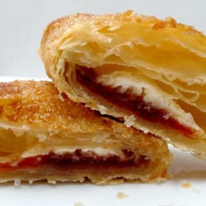 Guava and Cream Cheese Puff Pastry Turnover