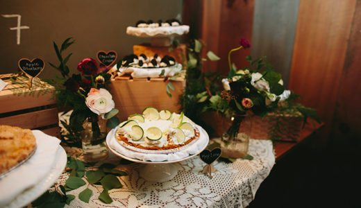 Pies will make a beautiful display at your wedding.