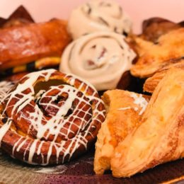 Treat your colleagues, family and friends to a breakfast pastry tray!
