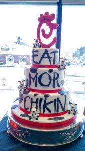 Our take on a Chick-Fil-A celebration cake!